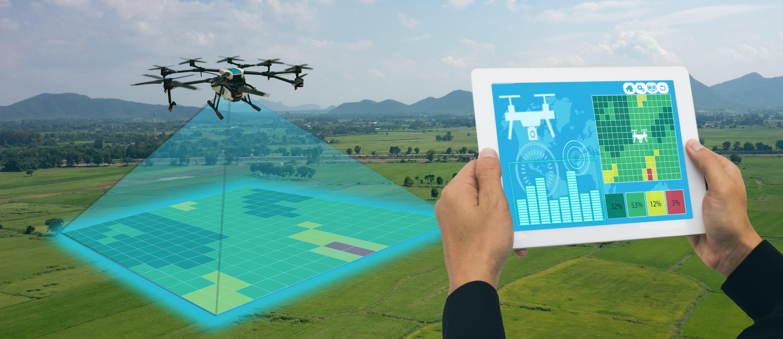 Drones usados na agricultura moderna
