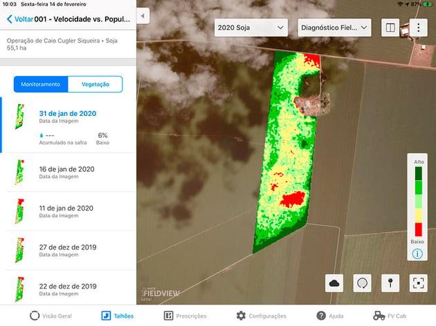 Mapa Climate Field View - Agricultura moderna de plantação