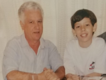Bruno Toselli e seu avô