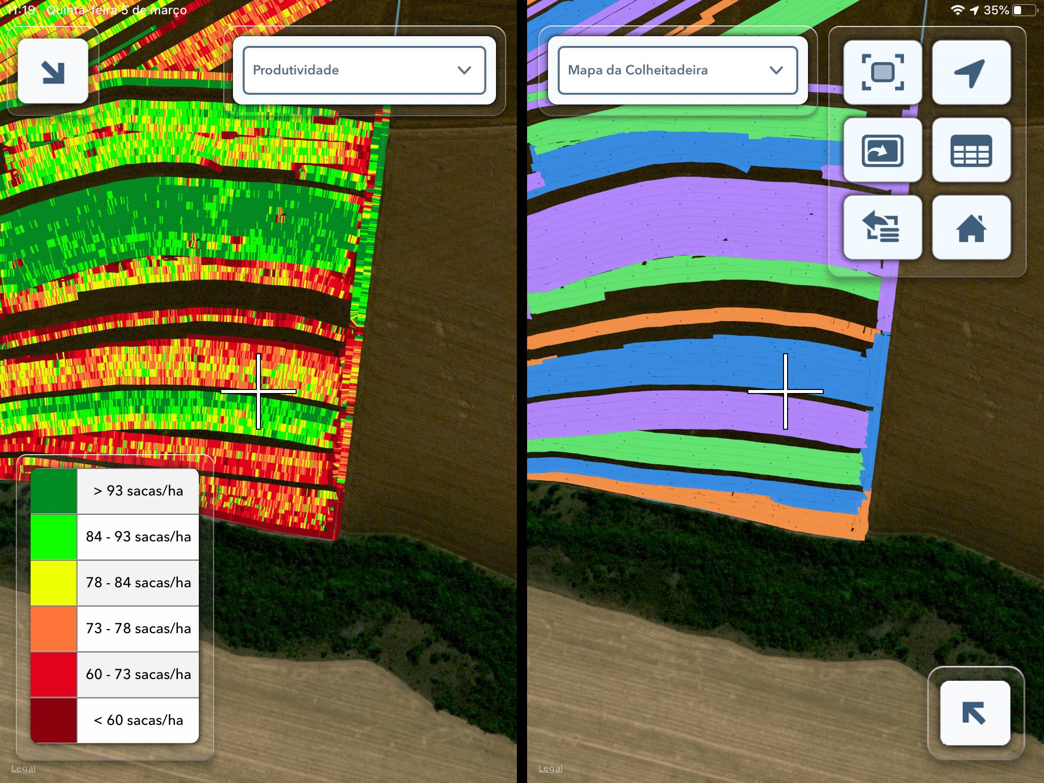 Sensores de maquinas para a colheita da soja na agricultura digital