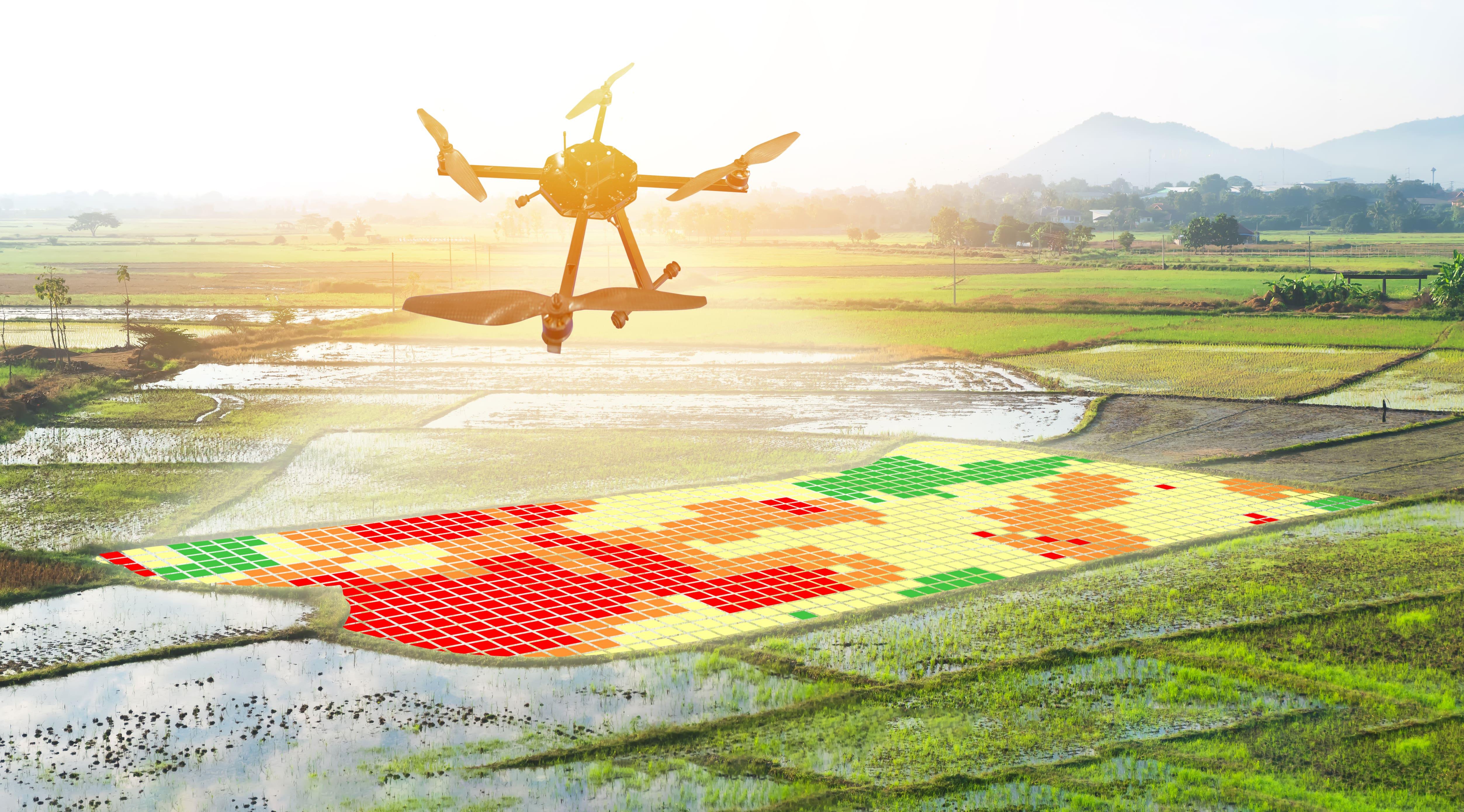 drones de agricultura digital ajudam no uso de insumos para a agricultura de precisao